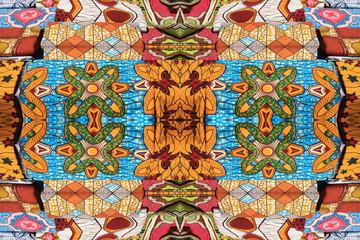 Mosaico  motivi tessuti