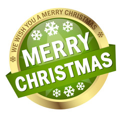 "Button mit Banner "" MERRY CHRISTMAS """