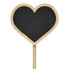 Herz Tafel auf Pfosten stehend