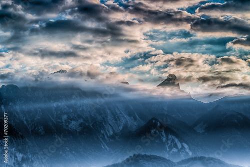 canvas print picture Wolken