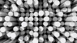 Fototapety Background of white reflective extruded cylinders or rods at var