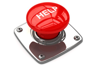 Red help button concept.