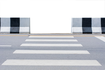 sign of zebra crossing on the road