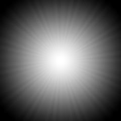 Black and white starburst effect