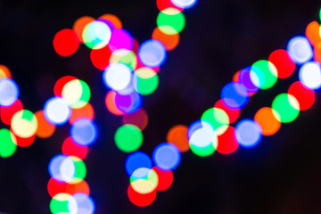 Abstract circular bokeh background of light.