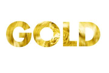 Gold Schrift