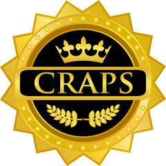 Craps Gold Badge