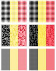 Mosaic Belgium flag set