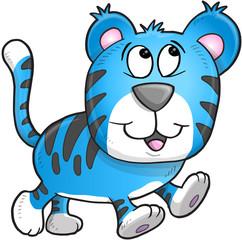 Cheerful Tiger Vector Illustration Art