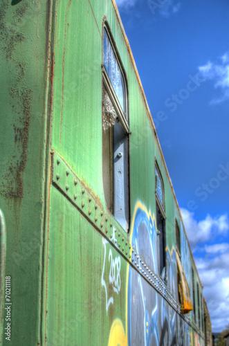 canvas print picture Eisenbahn Waggon