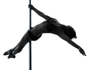 woman pole dancer silhouette