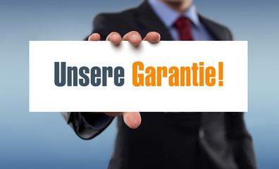 Unsere Garantie