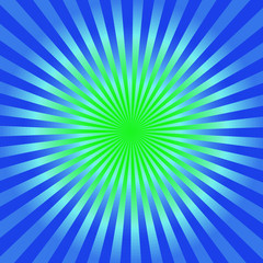 Green and blue starburst  background