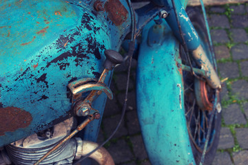 Gearshift lever old motorcycle