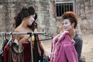 Female Actors Fitting Coat