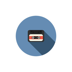 old audio cassette tape icon, vector