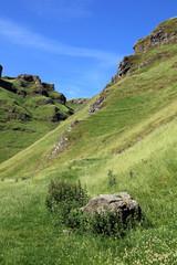 Winnats Pass in Derbyshire.