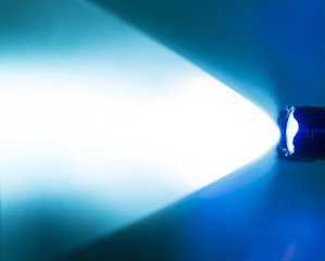 blue flash light of the torch