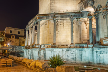 Diocletian's Palace in Split, at night