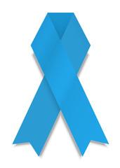 vector modern blue ribbon on white background.