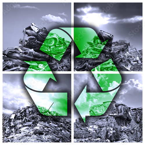 Leinwanddruck Bild Ökologische Wiederverwertung