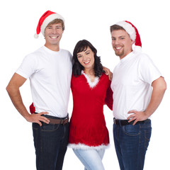 Kleine Gruppe in weihnachtlichem Kostüm