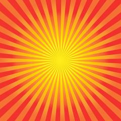 Orange Sun Sunburst Pattern