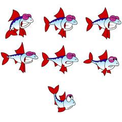animation emotions cartoon fish