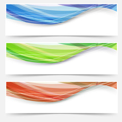 Bright wave lines red blue green headers