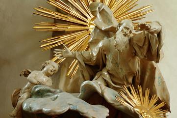 God the creator sculpture
