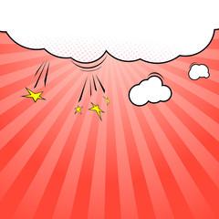 Pop-art style cloud explosion background template
