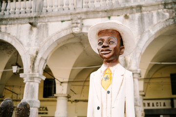 Wooden statue of African