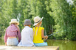 canvas print picture - Summer fishing