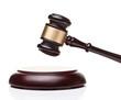 wooden judge gavel - 70214348
