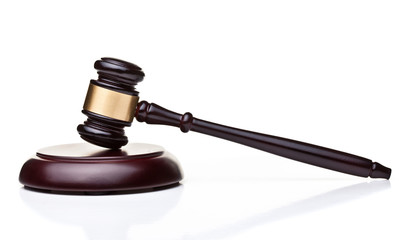 wooden judge gavel