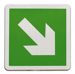 flèche directionnelle d'évacuation bas, descendre
