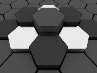 3D hexagons background