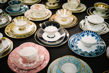 Old tea cups