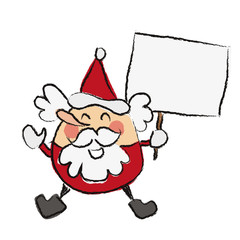 Santa holding a sign