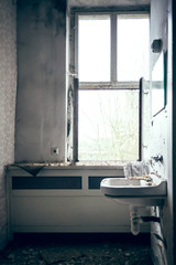 Sink at the window
