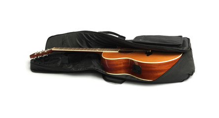Acoustic Guitar in Black Carry Bag