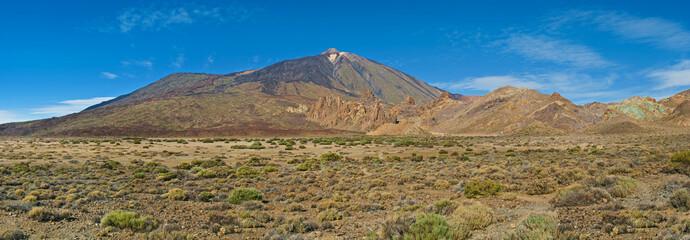 view of el teide volcano