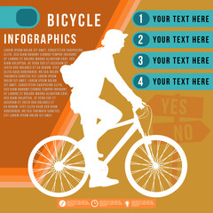 Bicycle infographics, vector format