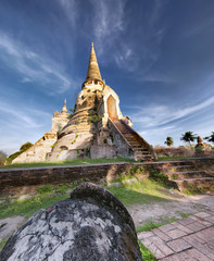 Ayutthaya Thailand - ancient city and historical place. Wat Phra