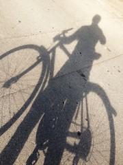 Schatten Fahrradfahrer