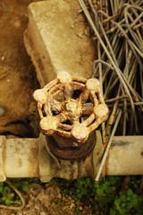 Rusty iron valve
