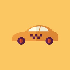 Taxi. Transportation Flat Icon