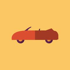 Cabriolet Transportation Flat Icon