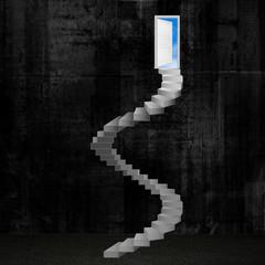 steps with door dark
