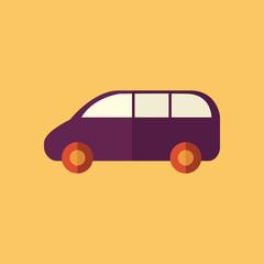 Family Car. Transportation Flat Icon